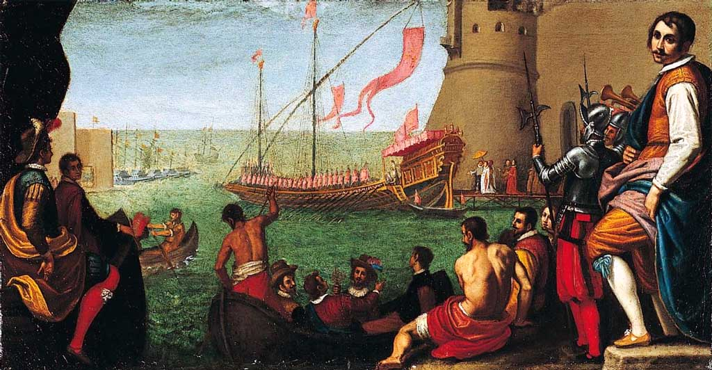 The Embarkation of Maria de' Medici at Livorno by Domenico Cresti