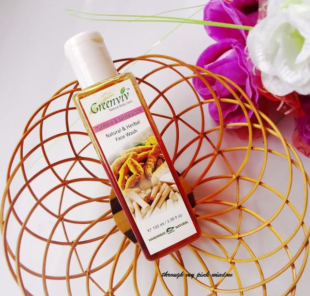 Review of Greenviv Turmeric and Sandalwood Natural & Herbal  Face Wash