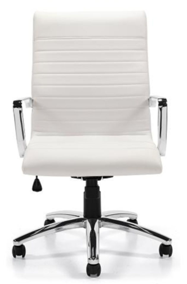 White Ribbed Computer Chair by OTG