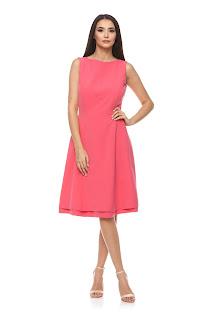 Rochie roz fara mâneci