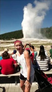 old faithful geyser yellowstone wyoming