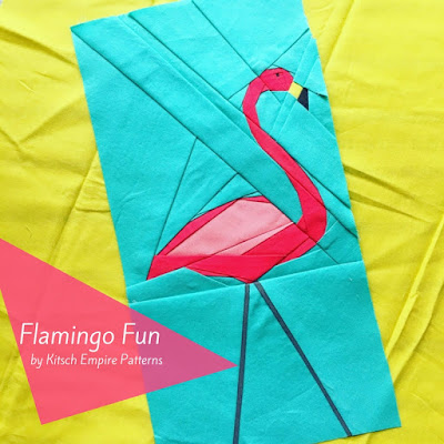 Paper Pieced Lawn Flamingo in all it's glory!