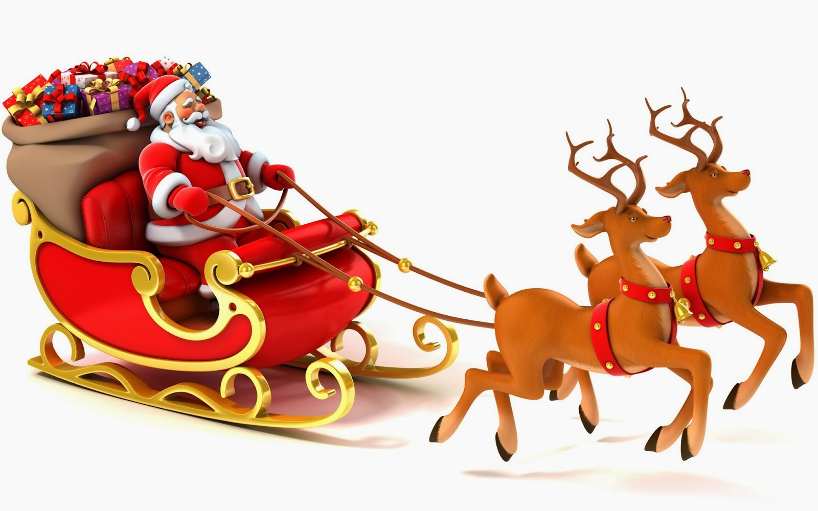 pictures of santa and his sleigh santa claus coming to town riding his reindeer sleigh 7367