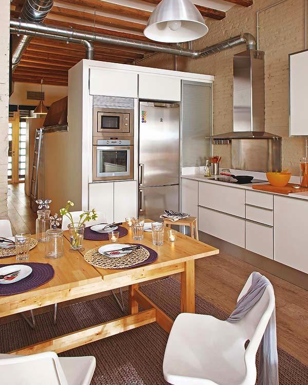 projeto da cozinha do apartamento