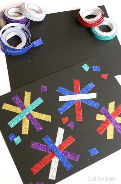 fireworks craft for preschoolers