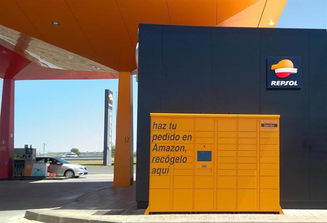 Estaciones de servicios Repsol donde retirar envios de Amazon. Taquillas automáticas para recoger pedidos de Amazon
