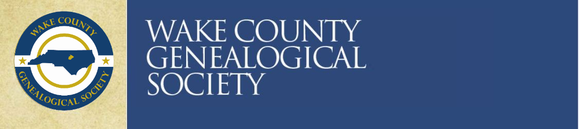Wake County Genealogical Society Blog