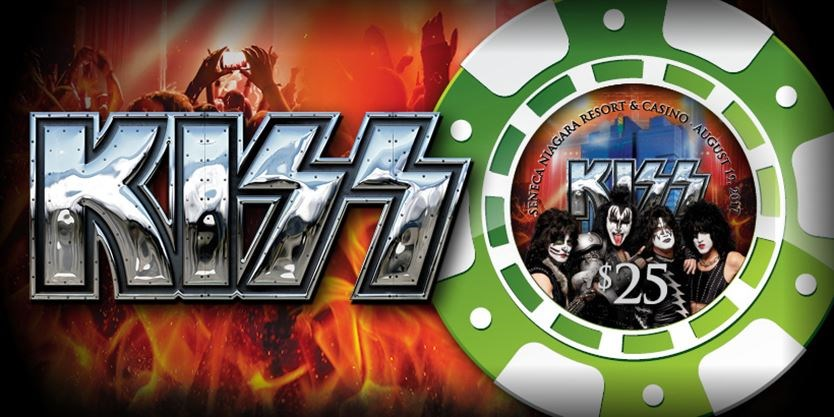 Seneca Casino lays down bet on Kiss show with line of poker chips