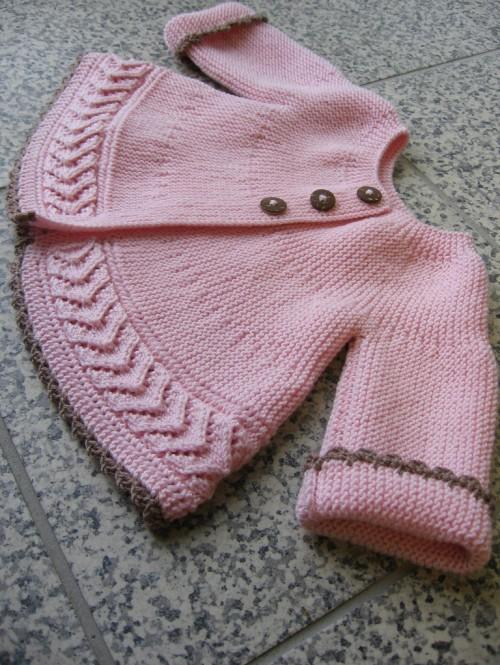 Jacket in Garter Stitch & Lace - Free Pattern