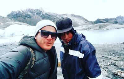 foto selfie diatas gunung