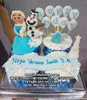 Cupcake Ulang Tahun Frozen Elsa dan Olaf