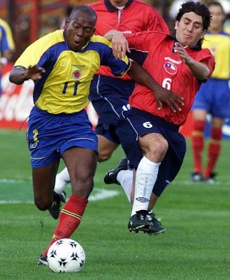 Colombia y Chile en Clasificatorias a Corea/Japón 2002, 7 de noviembre de 2001