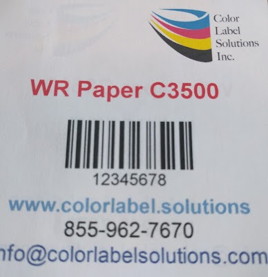 Water Resistant Paper Labels