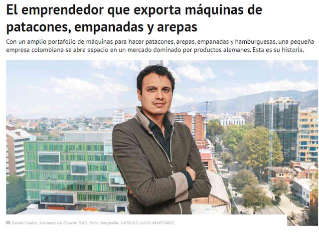El emprendedor que exporta máquinas de patacones, empanadas y arepas mas informacion clik en la imagen...