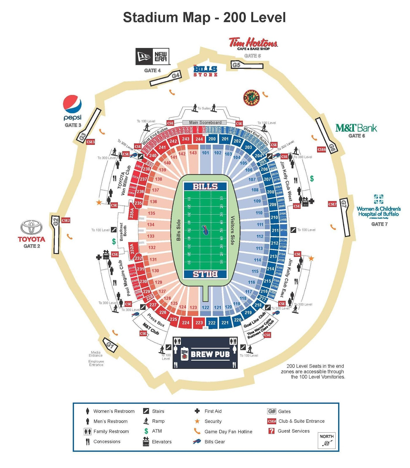 ralph wilson stadium seating - Images for ralph wilson stadium seating