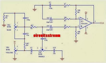 Simple Tone Control Circuit Diagram TDA2030 | Electronic