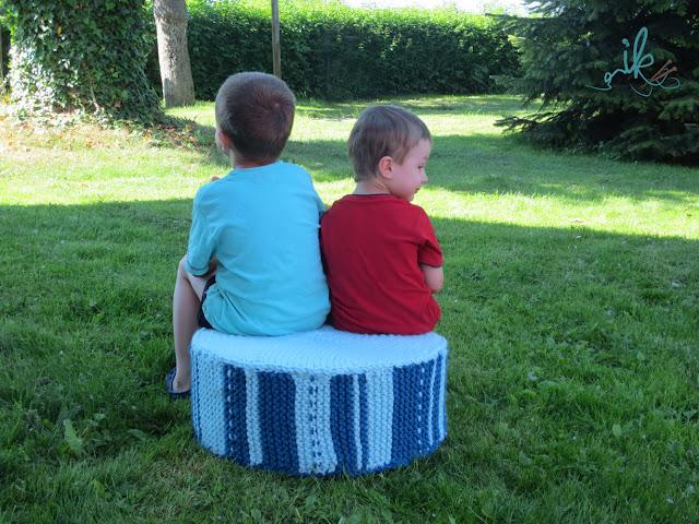 Bodenkissen Sitzkissen stricken