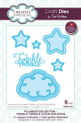 Creative Expressions Fillables Collection Twinkle Twinkle Cloud and Stars CED21015