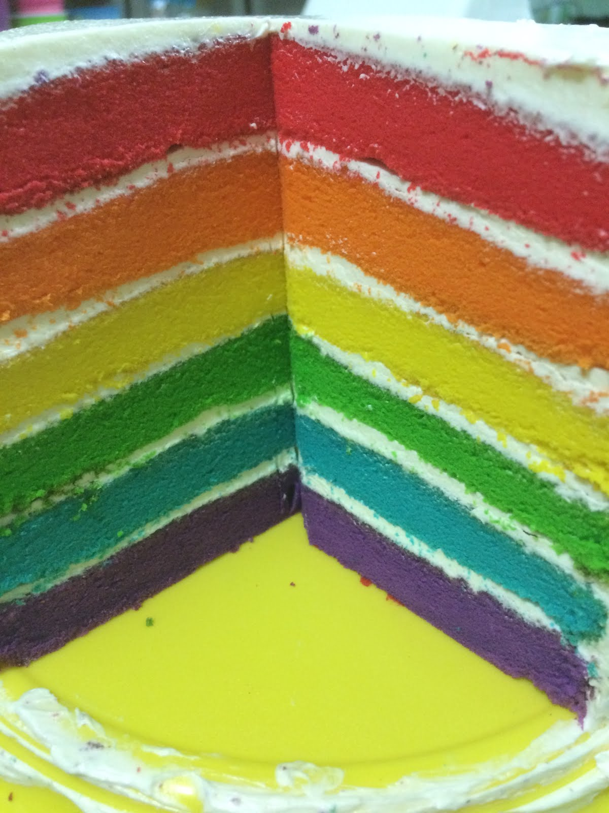 Rainbow Cake with Vanilla Buttercream