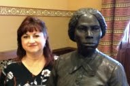 Donna Latteri with Harriet Tubman