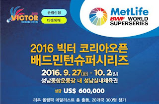 Victor Korea Open Super Series 2016