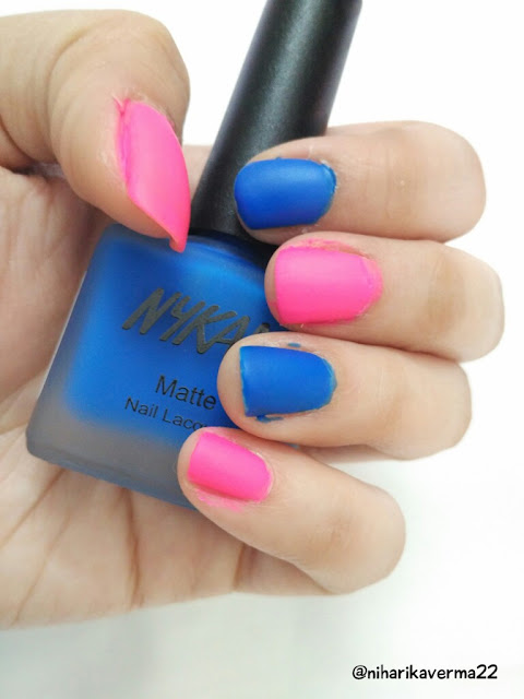 Nykaa's Neon Matte Nail Paints & Matte Lipsticks | New Launch- Maybelline 24 Superstay | SUGAR- It's-A-Pout-time lipstick | Reviews | Swatches 6