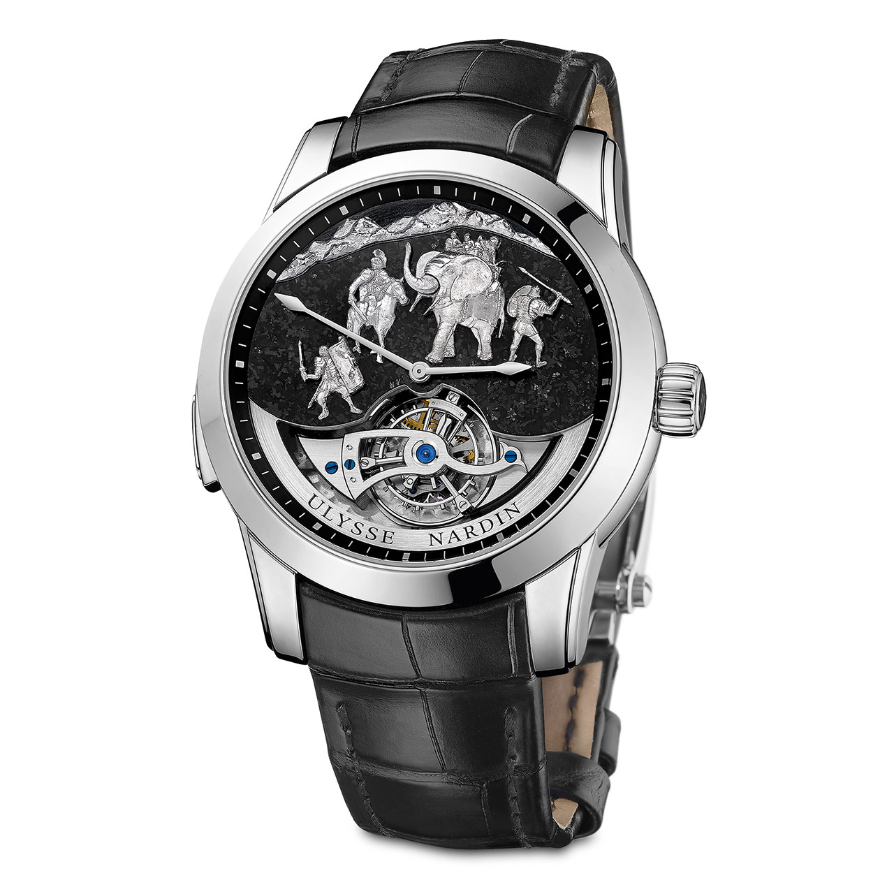 Ulysse Nardin Répétition Minutes Hannibal Westminster Carillon Tourbillon Jaquemarts Watch