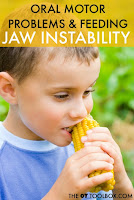 Jaw instability is an oral motor problem that results in impaired eating and drinking skills.