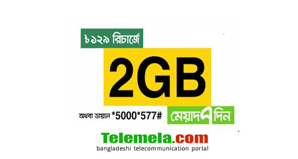 Banglalink 2GB internet at 129Tk