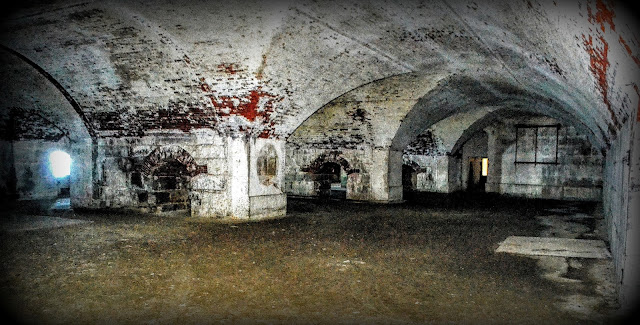 Fort Warren, Boston Harbor, Massachusetts, empty, chamber, dark, haunted