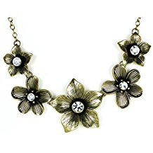 Sparkle Five Flower Necklace