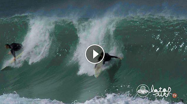 Sesión de Surf en LAS LANDAS 26 Septiembre 2016 Latas Surf TV