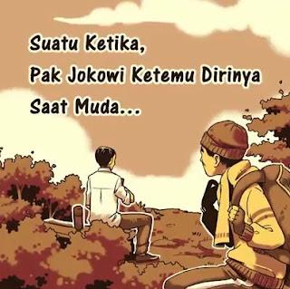 Cerita Komik Pendek Jokowi ke Masa Lalu