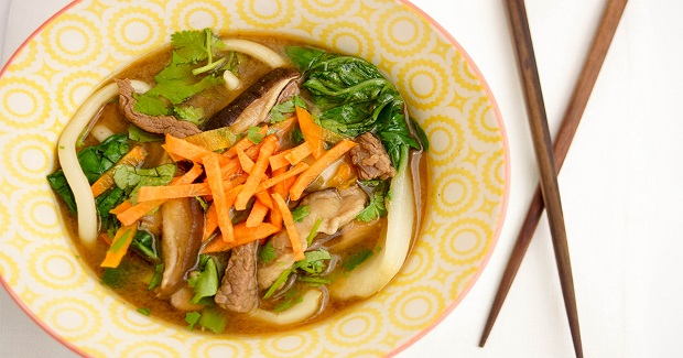 Beef And Shiitake-Lemongrass Miso Soup Recipe
