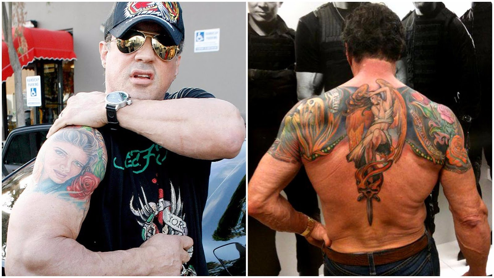 Sylvester Stallone Tattoos