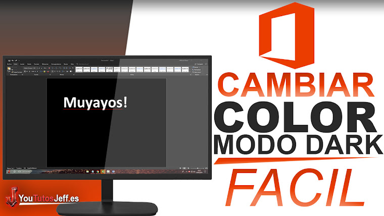 Como Cambiar el Color de Microsoft Office (Modo Dark) - Facil