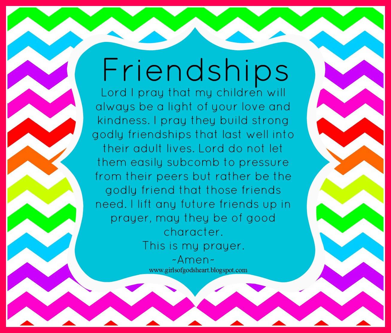 Mothers Prayer {Friendships}