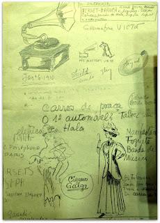 Desenhos e Anotações de 'O Tempo e O Vento' - Érico Veríssimo