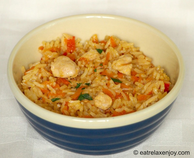 חזה עוף בטריאקי עם אורז וירקות