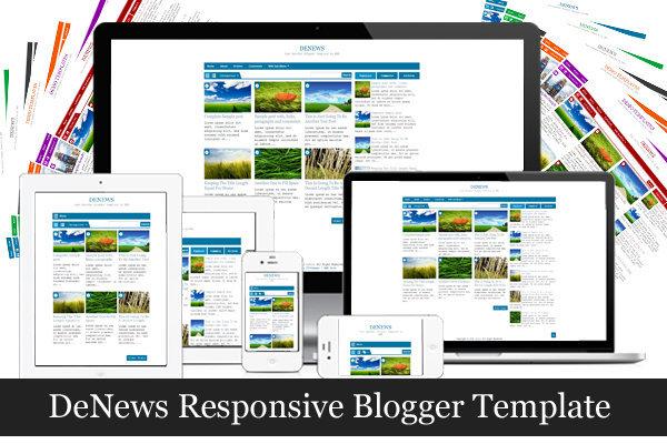 DeNews Responsive Blogger Template by MKR
