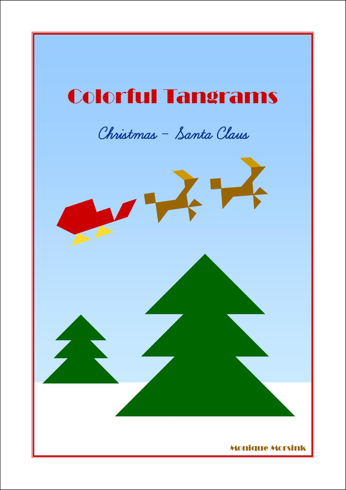 Colorful Tangrams Christmas