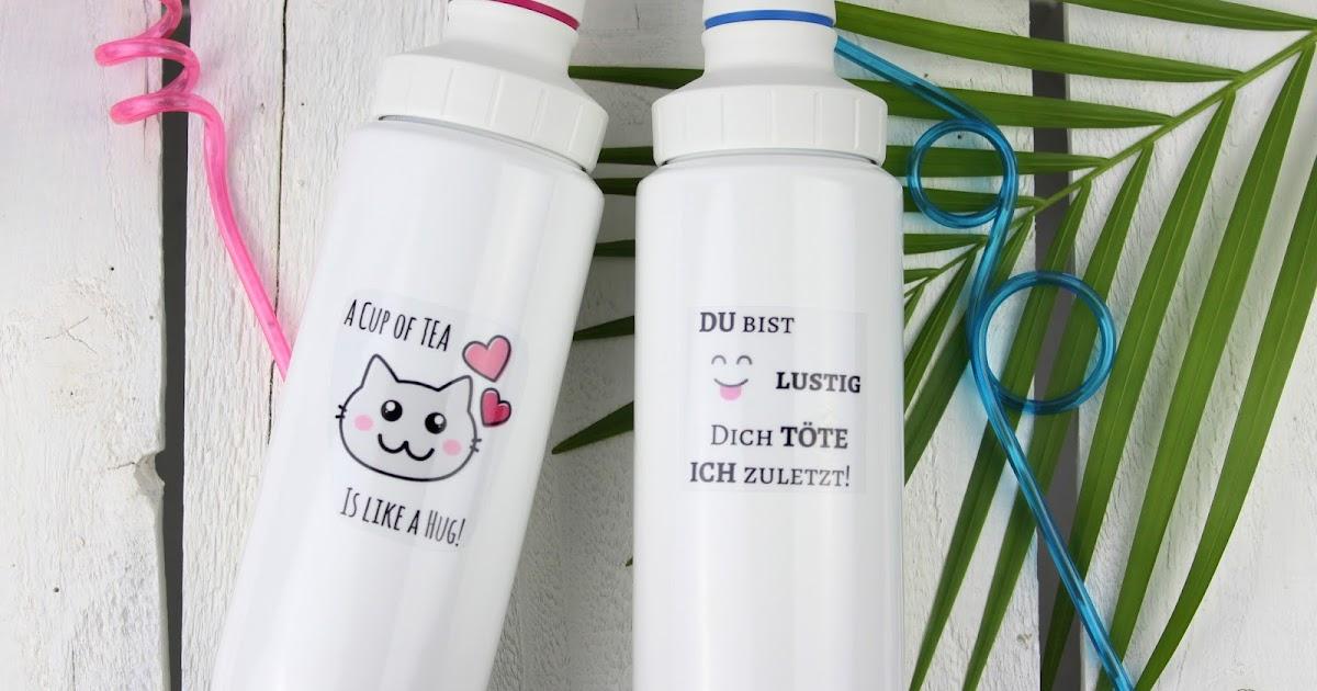 diy trinkflaschen selbst gestalten und bedrucken mit. Black Bedroom Furniture Sets. Home Design Ideas