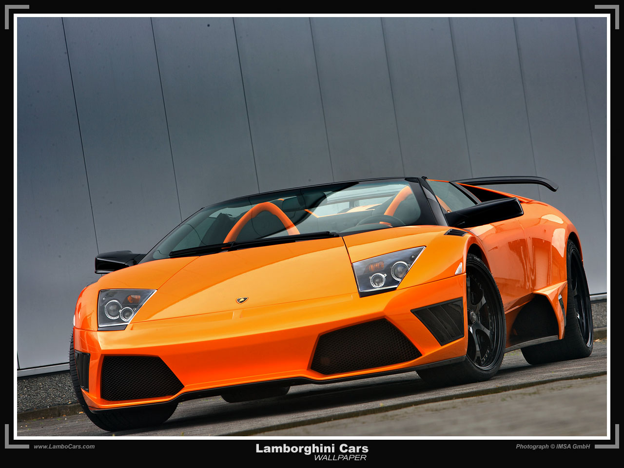 Cars Wallpapers Orange Lamborghini Murcielago Wallpaper