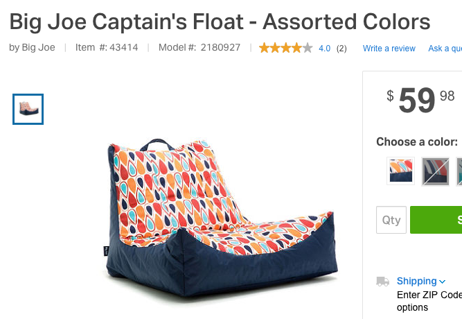Its A Pool Bean Bag Chair I Can Use It In Water And On Land
