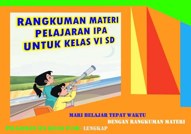 Rangkuman Pelajaran Materi Ipa Kelas Vi Sd Lengkap