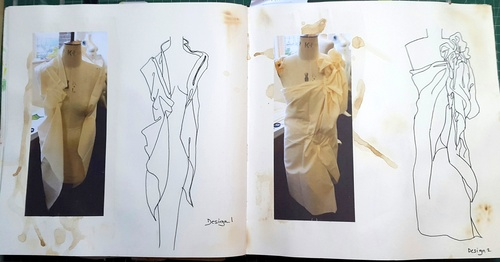 Whoopidooings - Stage 1 - Rotations Sketchbook - Fashion & Textiles