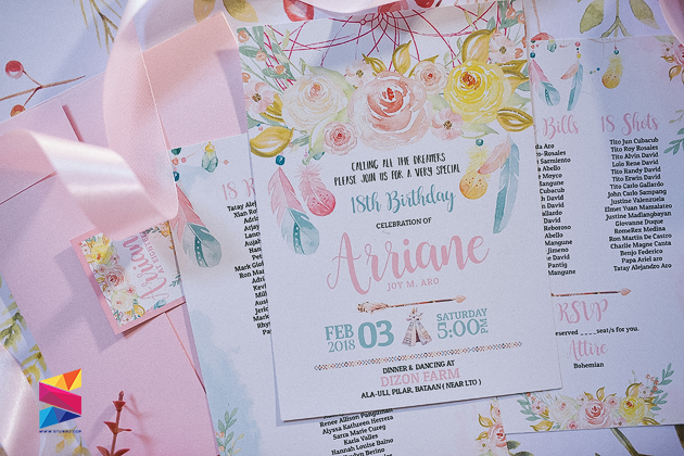 Pastel bohemian debut invitation stunro creativeworks pastel bohemian debut invitation stopboris Image collections