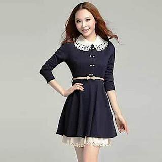 Model Baju Dress Lengan Panjang Anak Remaja Terbaru