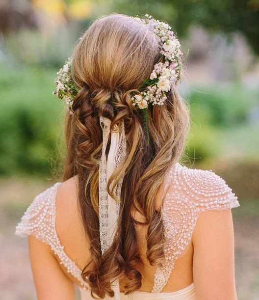wedding hairstyles long style for wedding reception