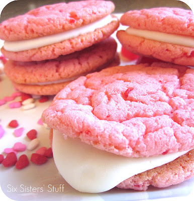 Quick and easy strawberry cake mix cookies with from scratch cream cheese frosting